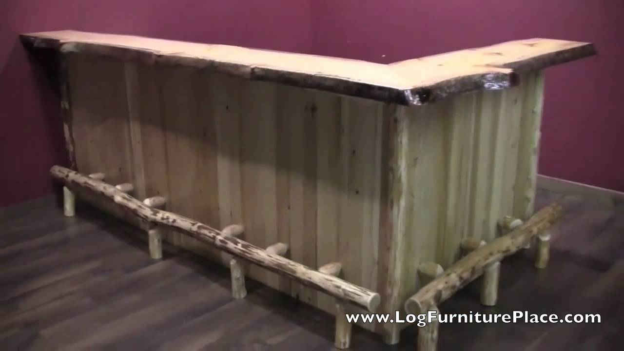 Log Bar | Cedar Lake Log Bar | Custom Log Cabin Bar At  LogFurniturePlace.com   YouTube