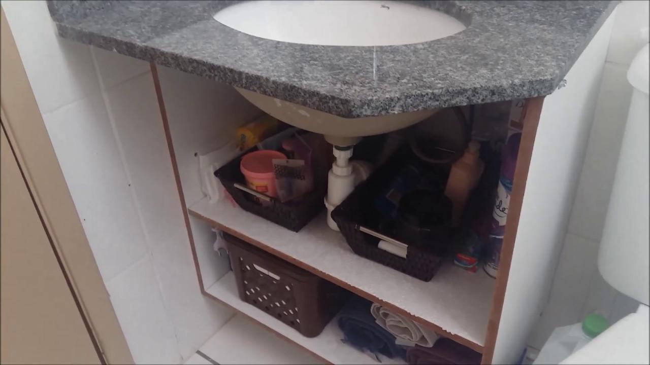 DIY  Faça você mesmo gabinete para o banheiro  YouTube -> Gabinete De Banheiro Diy