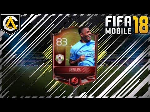 Cómo Conseguir A Gabriel Jesus GRL 83 FIFA MOBILE 18 Arraiz Games