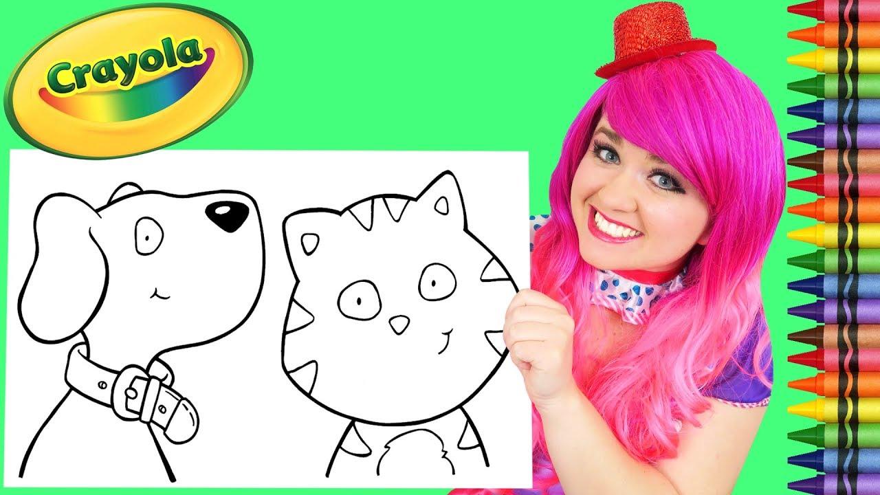 Coloring A Cat & Dog Crayola Coloring Book Page Crayola Crayons | KiMMi THE  CLOWN