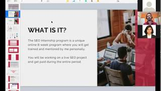 SEO Internship Launch Webinar by Sanjay Shenoy