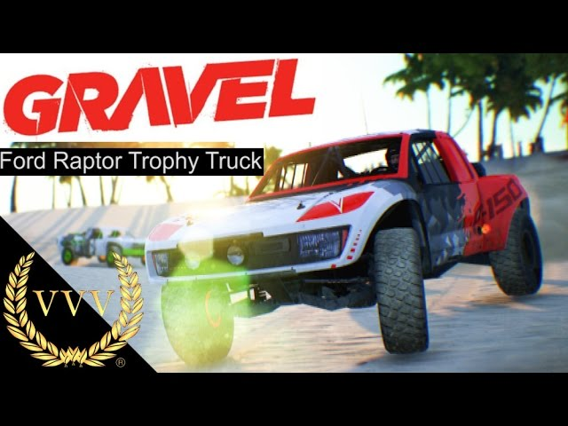 GRAVEL Preview Gameplay - Ford Raptor Trophy Truck