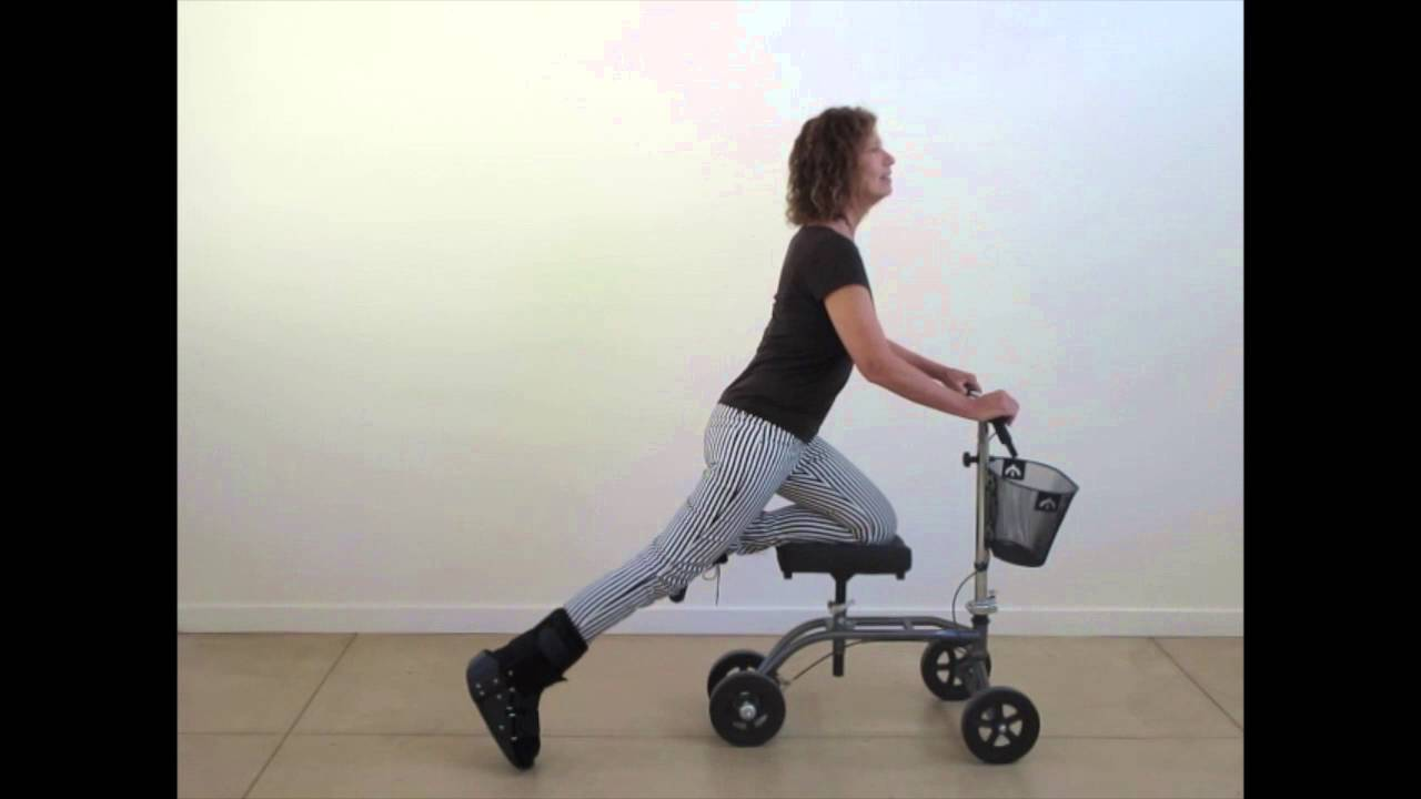 I Broke My Foot How To Exercise On Your Knee Walker Youtube