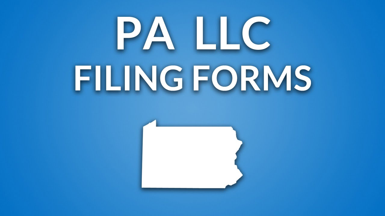 Pennsylvania LLC - Certificate of Organization - YouTube