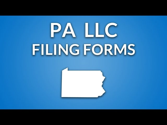How To File Pennsylvania Llc Certificate Of Organization Llc