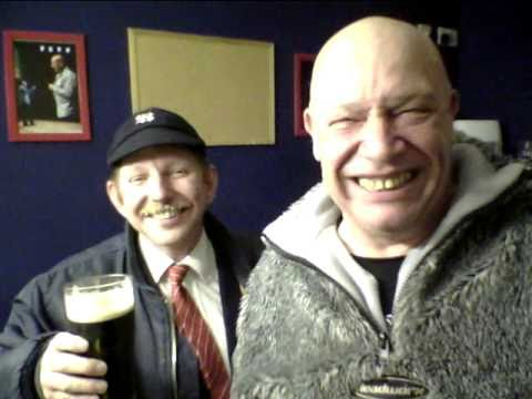 Buster Bloodvessel and Max Splodge backstage with Rat Boy
