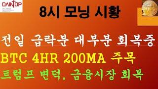 10/8) 비트코인 암호화폐 해외선물 모닝시황) 전일 …