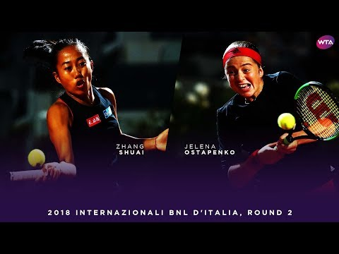 Zhang Shuai vs. Jelena Ostapenko | 2018 Internazionali BNL d'Italia Second Round | WTA Highlights