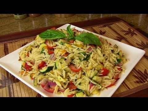 Grilled Vegetable Orzo Pasta Salad- Vegetarian Recipe |Cooking With Carolyn|