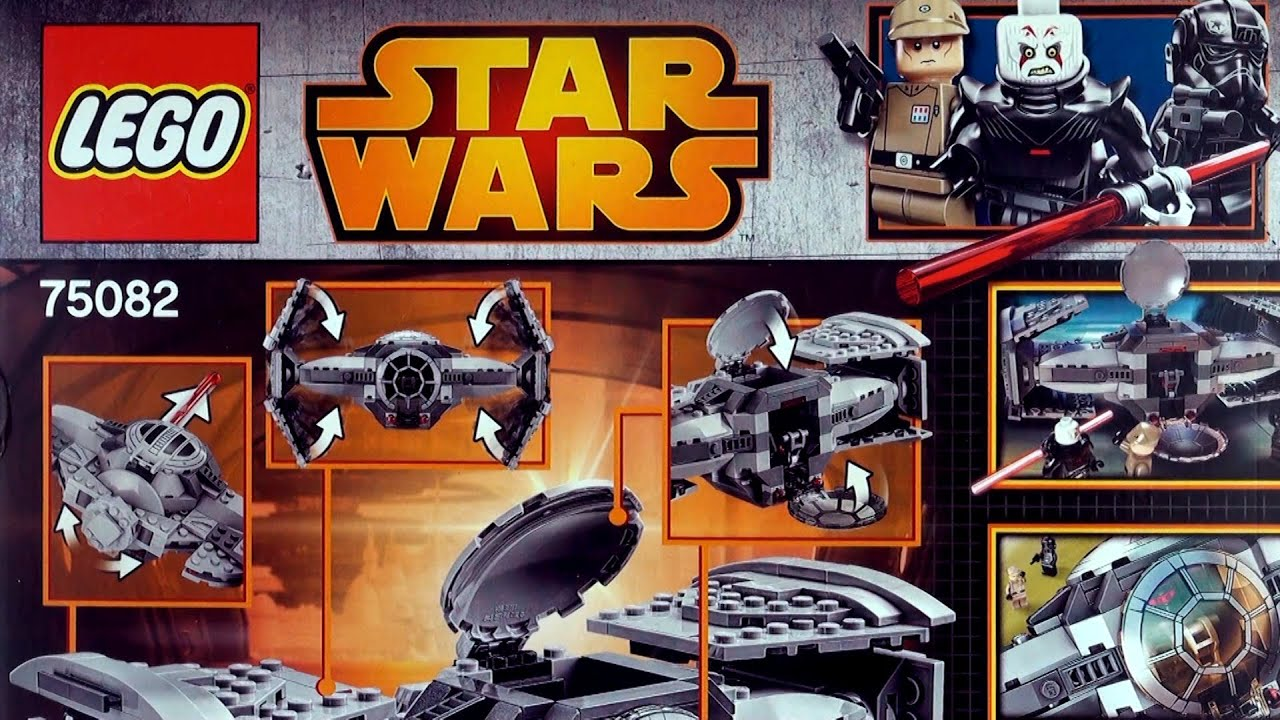 star wars lego tie fighter advanced prototype lego set 75082 unboxing and construction part 1