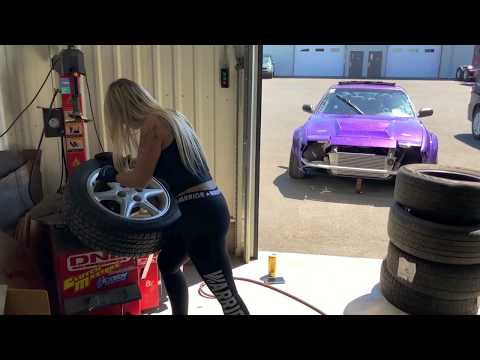 What Does A Girl Who Changes Tire Look Like? / Carolanne Poissant / Unicorn Drift Team