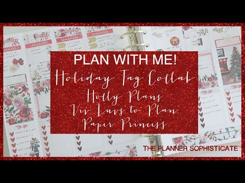 Collab Holiday Tag Plan With Me w/ Holly Plans, Paper Princess & Viv Luvs to Plan // Ft . MNA