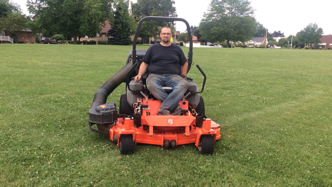 Husqvarna Commercial Mower With Collection System Youtube