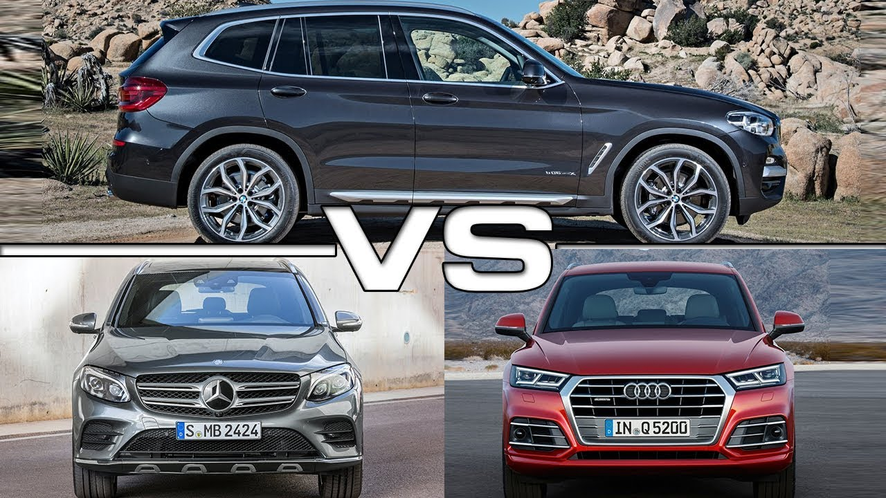 2018 Bmw X3 Vs 2016 Mercedes Glc 2017 Audi Q5