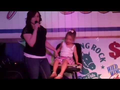 Jimmy Joe karaoke.Amy Gilstrap sings at Wild Wings.