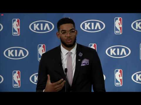 Karl-Anthony Towns Rookie of the Year Presentation