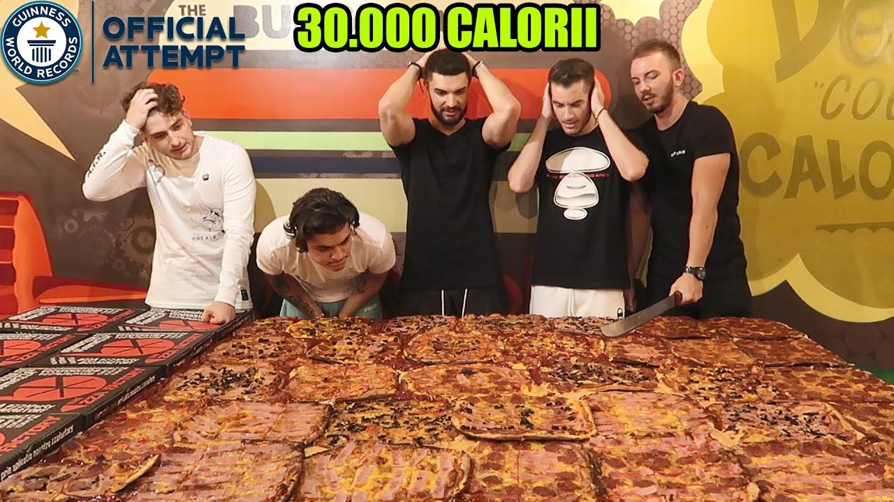MANCAM CEA MAI MARE PIZZA PT 1000 DE EURO *30.000 CALORII*