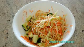 pickle papaya   Khmer food   Cambodian food   Asian food
