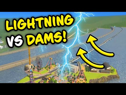 STORM VS FLOOD DEFENSES in Cities Skylines Crater Map - YouTube