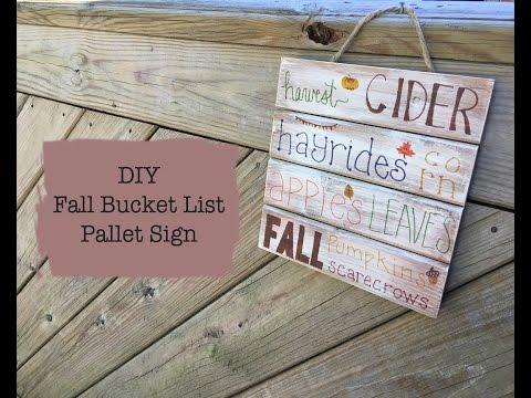 RVA Crafternoon: DIY Fall Bucket List Pallet Sign
