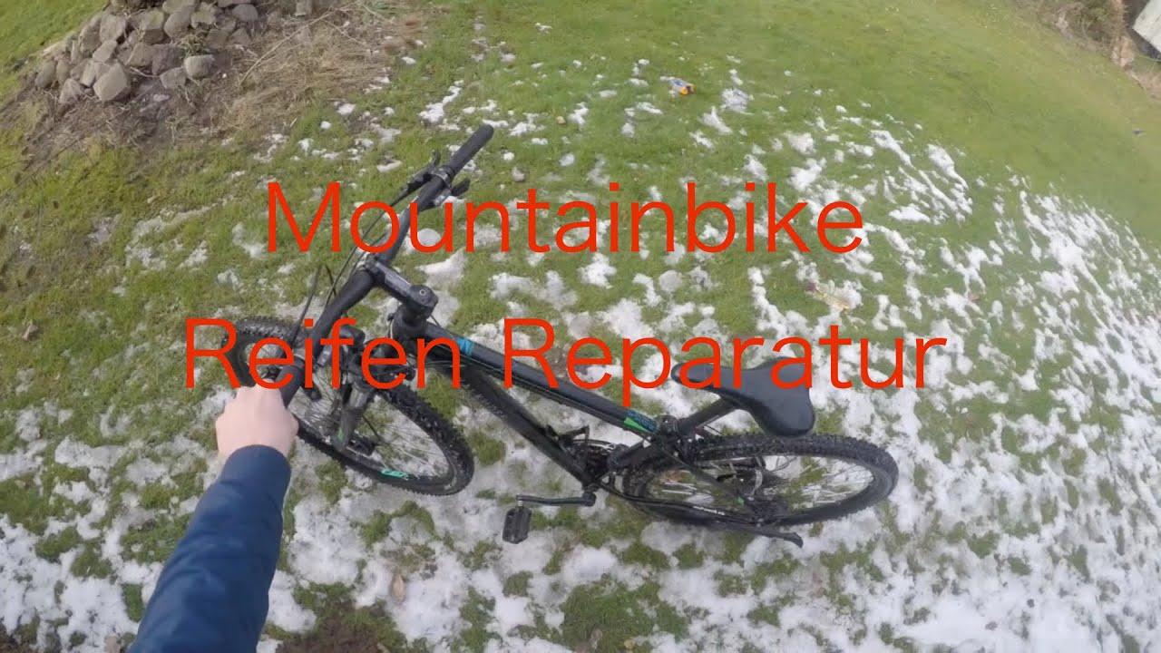 Mountainbike reifen reparieren