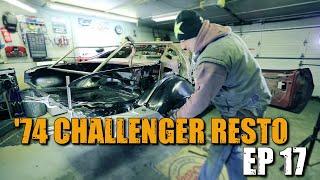 74 Dodge Challenger Restoration #17 - Passenger wheelhouse AND quarter panel install!!