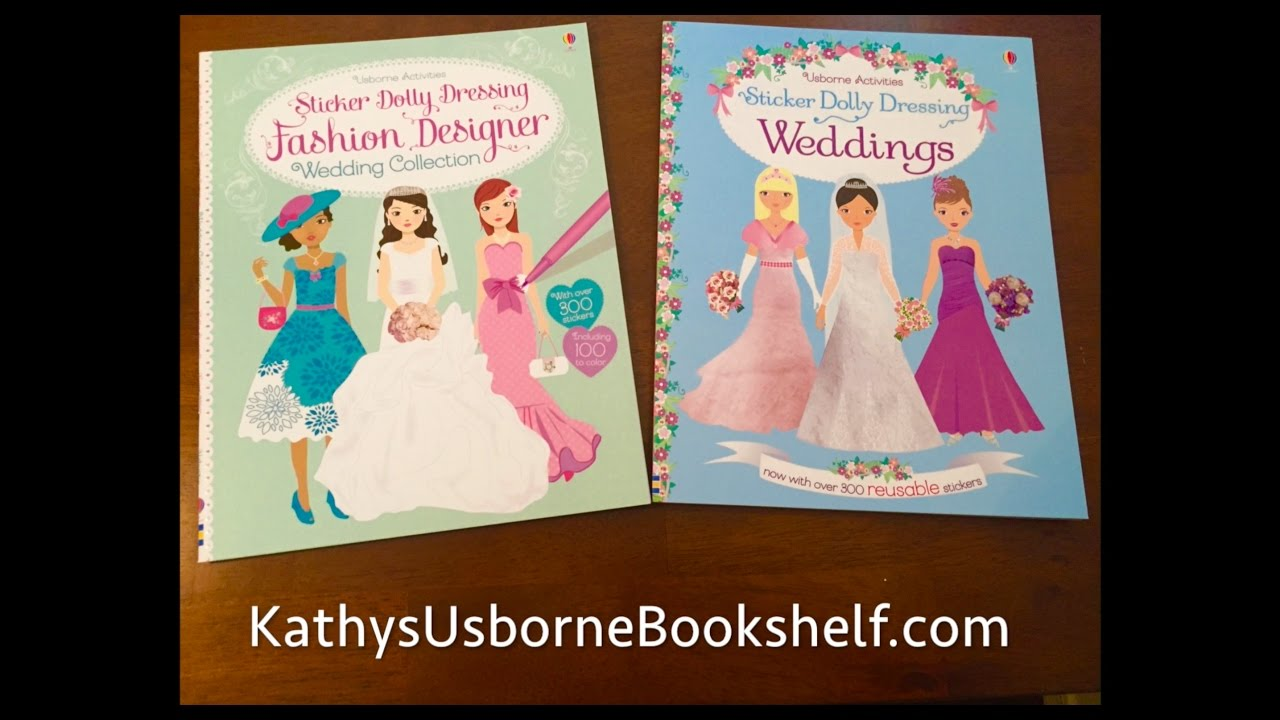 The Usborne Bookshelf Sticker Dolly Dressing Wedding Fashion Designer Youtube