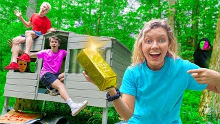 LAST TO LEAVE Mystery Neighbor TINY HOUSE (Wins $10,000 GOLD TREASURE)
