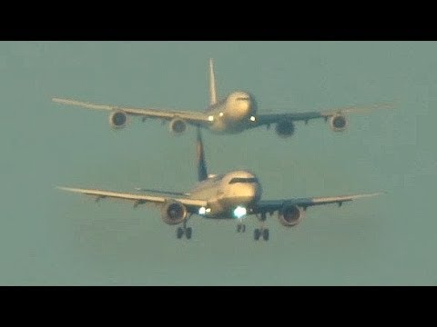 AIRBUS A340-600 behind