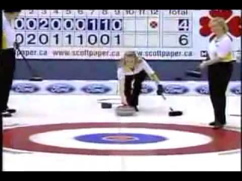 Most Intense Curling Shot Ever A Funny Video