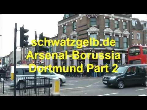 Arsenal - Dortmund Stimmung Part 2 Arsenal F.C. London Fans Borussia Dortmund BVB Atmosphere
