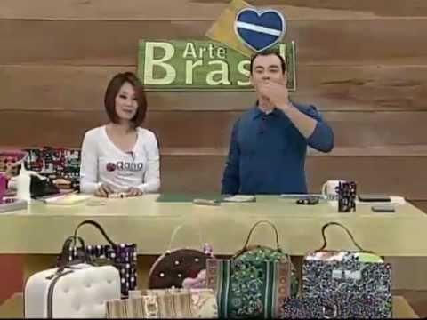 ARTE BRASIL - CLAUDIA WADA - CARTEIRA MÁGICA EM CARTONAGEM (13/07/2011)