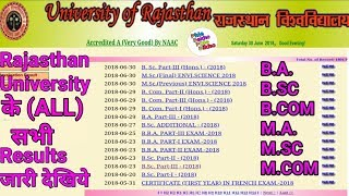 Rajasthan University के सभी Results घोषित || सभी परिणाम Mobile पर इस तरह निकाले।