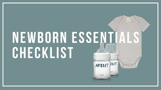 Newborn Essentials Must-Haves Checklist 2019