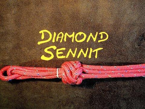 Diamond Sennit Knot How to Tie the 6 Strand Diamond Sennit Knot - (Similar to Matthew Walker Knot)