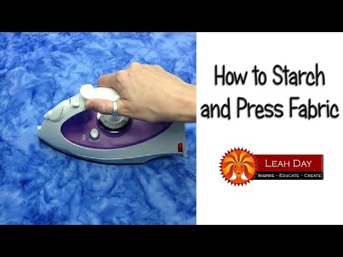 How to Starch and Press Fabric