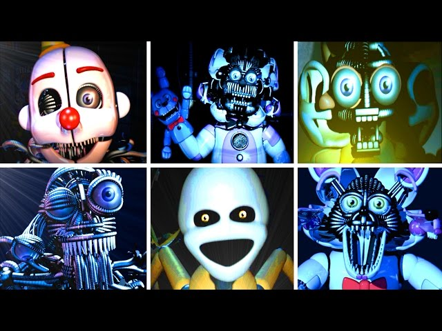 Five Nights at Freddys: Sister Location ALL JUMPSCARES