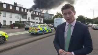 BBC News: Europe's largest Ahmadiyya Bait-ul-Futuh Mosque on Fire