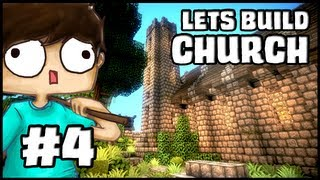 Minecraft Lets Build: Church - Part 4 - The Cemetery