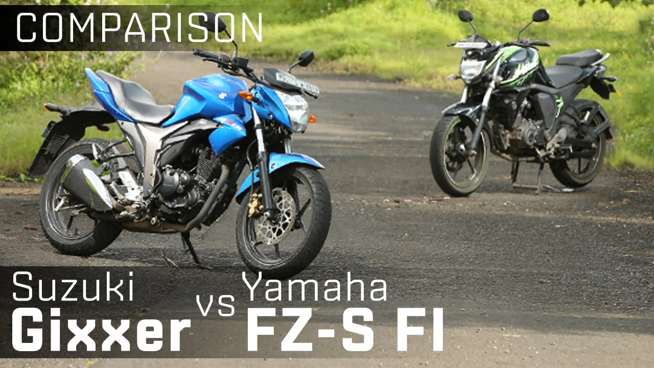 Suzuki Gixxer Vs Yamaha Fz S V2 0 Bike Comparison Zigwheels