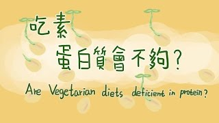 吃素蛋白質會不夠 are vegetarian diets deficient in protein