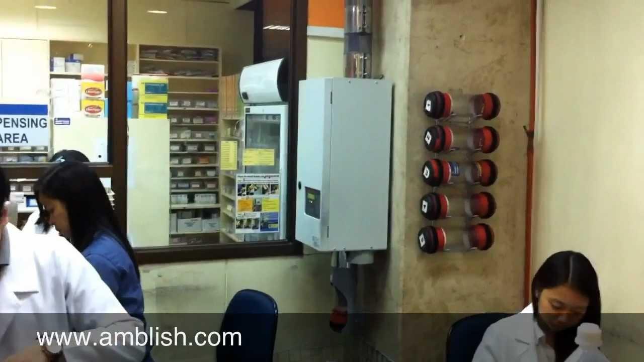 Philippine pneumatic tube system for pharmacy sendings in