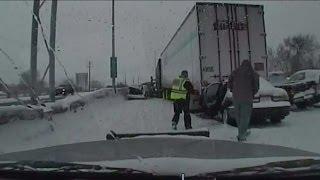 Repeat youtube video Video captures Highway 41/45 pileup as it happens