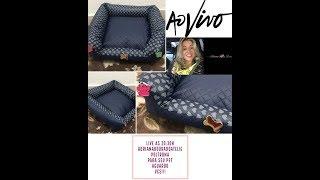 Como Fazer CAMA DE CACHORRO Prática - Sew BED FOR DOG Adriana Dourado