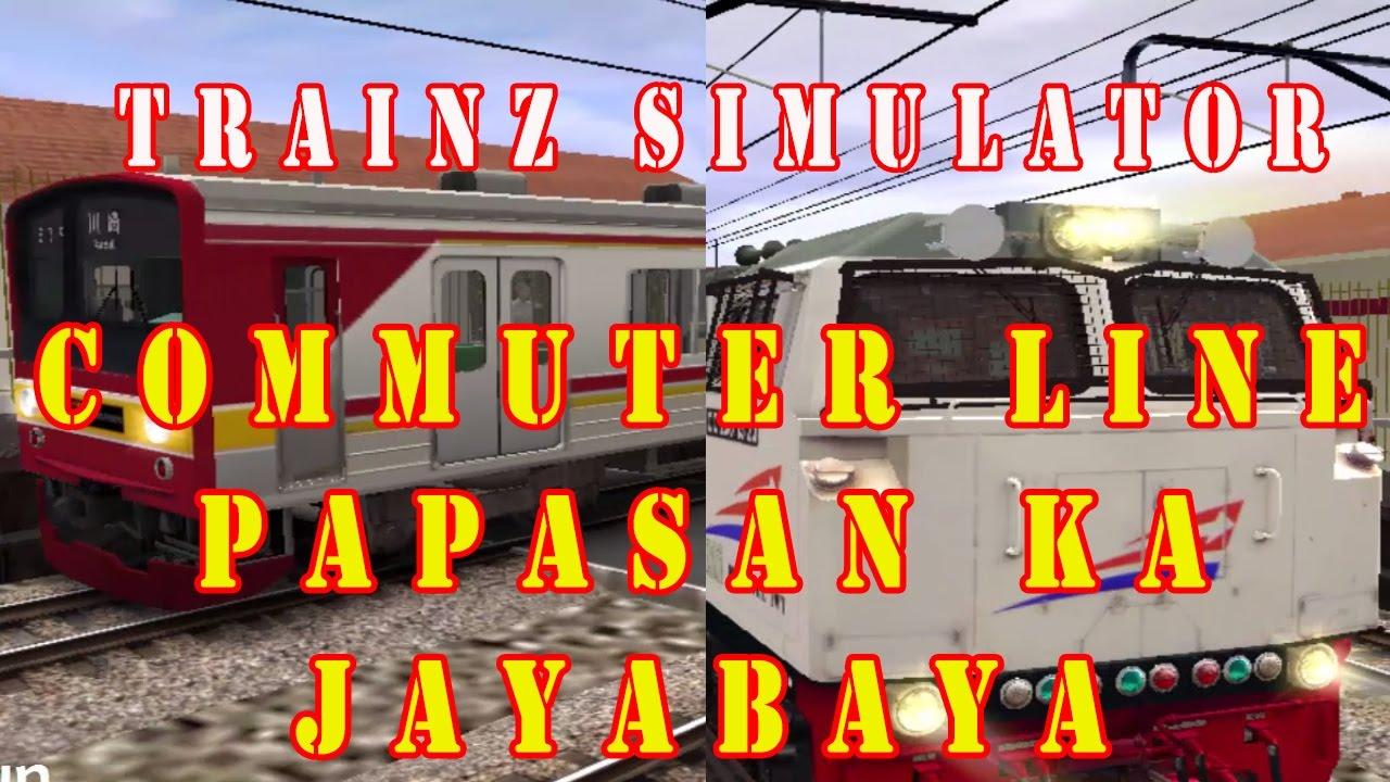 KRL CommuterLine Papasan KA JAYABAYA - YouTube