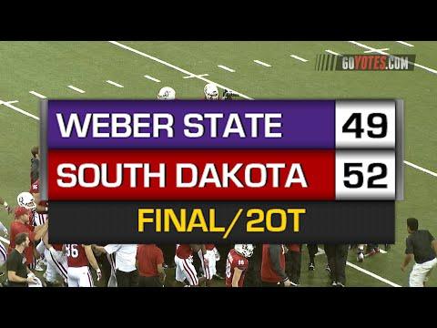 Football Highlights: South Dakota 52, Weber State 49