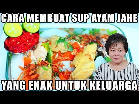 Resep : Cara Membuat Sup Ayam Jahe Lobak Putih Ala Enny Tangerang!!!