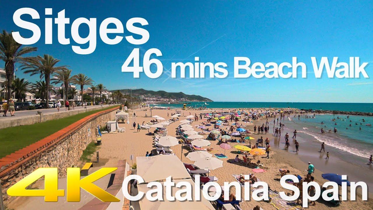 Download Tiny Tour   Sitges Spain   46 mins Beach Walk 2019 Summer