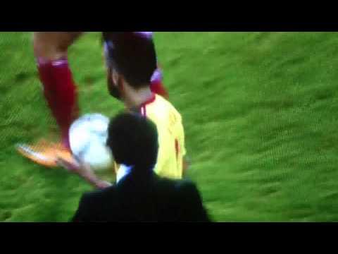 Chris Coleman slaps neil Taylor on the head lol!!