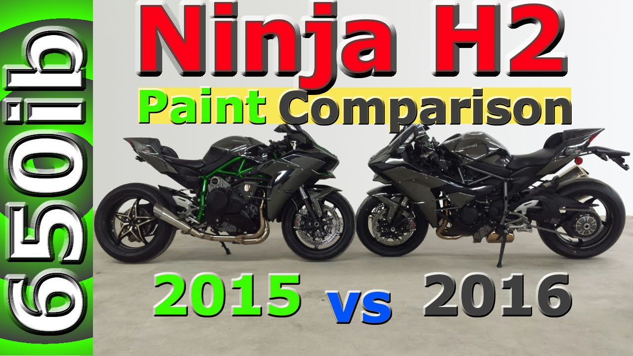 Kawasaki Ninja H2 Paint Comparison 2015 Vs 2016 Youtube